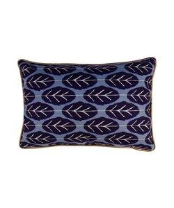 Cushion cover Leaf blue