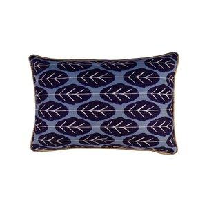 Raaf Cushion cover Leaf blue
