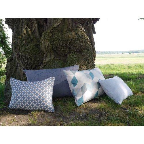 Raaf Outdoor throw pillow cover Susan blue 35x50 cm