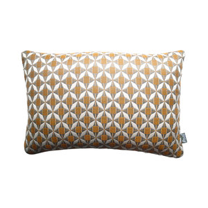 Raaf Outdoor throw pillow cover Tile orange