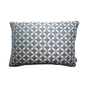 Raaf Outdoor throw pillow cover Tile blue