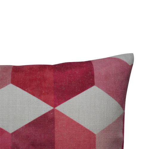 Raaf Outdoor throw pillow cover Block pink 40x60 cm