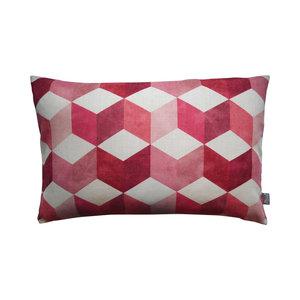 Raaf Outdoor throw pillow cover Block pink
