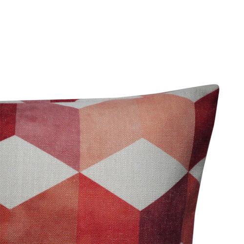 Raaf Outdoor sierkussenhoes Blok rood 40x60 cm
