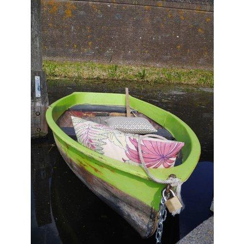 Raaf Outdoor sierkussenhoes Blad roze 40x60 cm