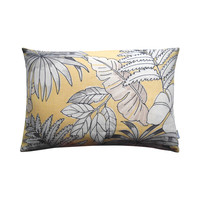 Outdoor cushion cover Leaf yellow