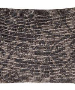 Sierkussenhoes Vintage flower taupe 35x50