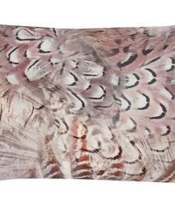 Cushion cover Feather taupe 35x50