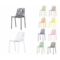 Cast Magnolia chair Black/White (without armrests)