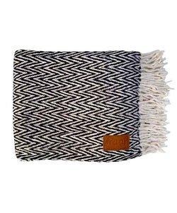 Throw black & white 130x170 cm