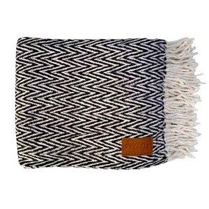 Raaf Throw black & white 130x170 cm
