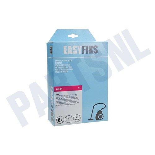 Easyfiks Stofzuigerzak Philips S-BAG 8 stuks