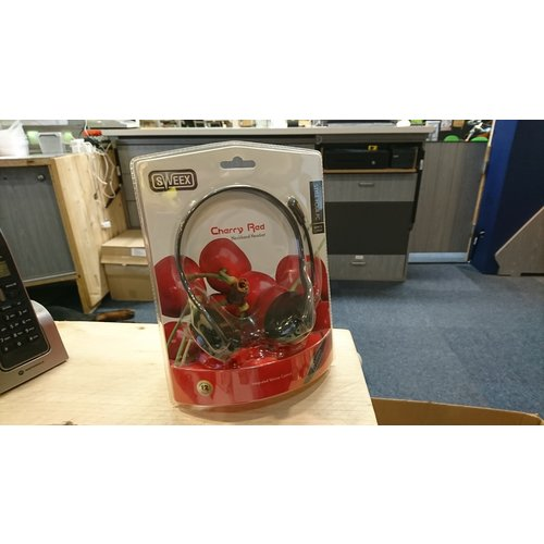 Sweex Cherry Red - Headset