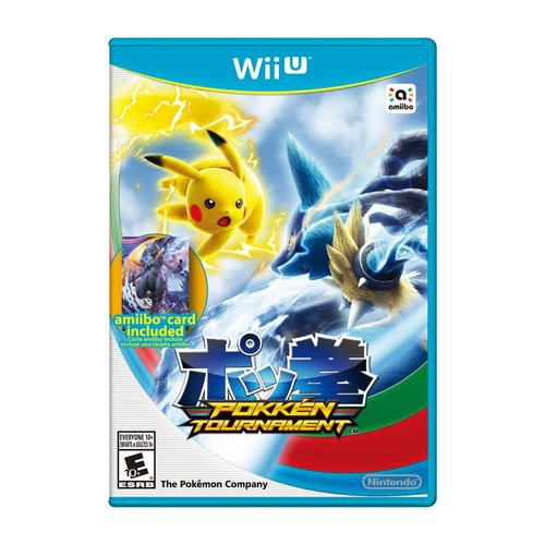 Nintendo WIIU Pokkén Tournament with Mewtwo Card