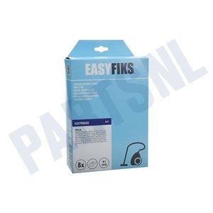 Easyfiks Stofzuigerzak Z362-370-430-440-450-460 E8 Micro Fleece 8 stuks Nw Stijl