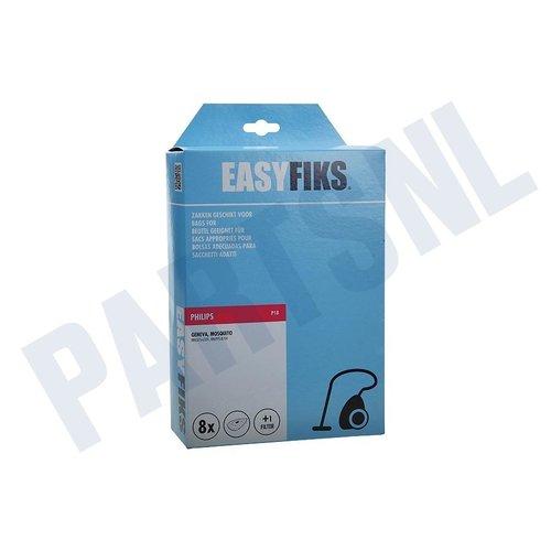 Easyfiks Stofzuigerzak Geneva HR 6325-6339-6995 Philips Micro Fleece 8 stuks Nw Stijl