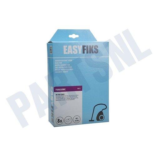 Easyfiks Stofzuigerzak MC 7110-7120-7130 Genuine Micro Fleece 8 stuks Nw Stijl
