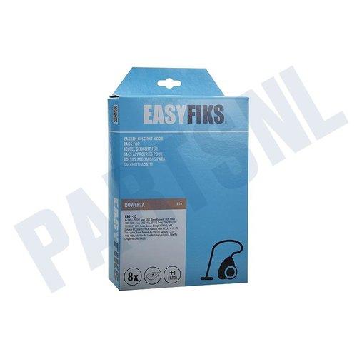 Easyfiks Stofzuigerzak Rowenta RB 01-12-20-Tefal RB01 Micro Fleece 8 stuks Nw Stijl