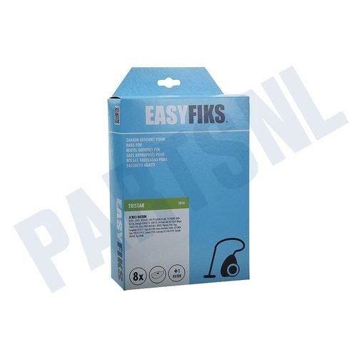 Easyfiks Stofzuigerzak JC 802, AFK BS2000W1 Germatic Micro Fleece 8 stuks Nw Stijl