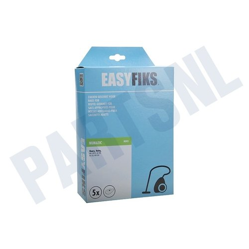 Easyfiks Stofzuigerzak Henry HVR 200, NV 250 NVH NVM 1CH Micro Fleece 5 stuks Nw Stijl