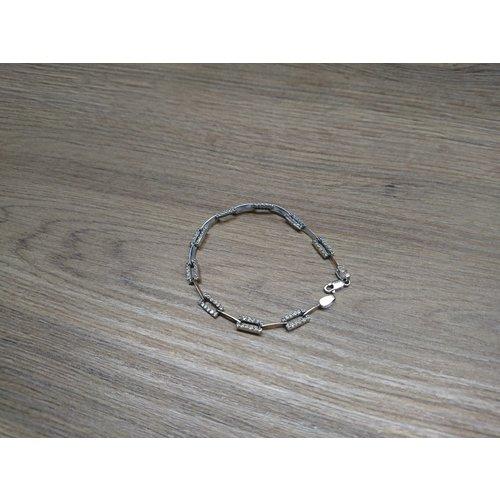Wit gouden dames armband - 18K/107Diamanten