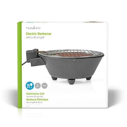 Elektrische Barbecue | Rond | 30 cm | 1250 Watt