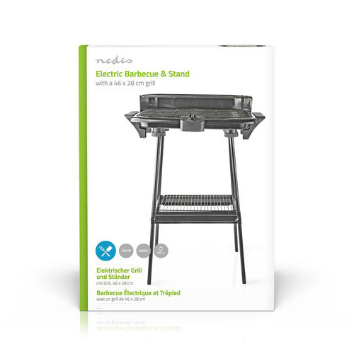 Elektrische Barbecue | Rechthoekig | 46 x 28 cm | 2000 W