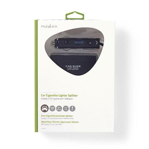 Universele DC-voedingsadapter   5/12 V DC   Autolader/USB   3-weg
