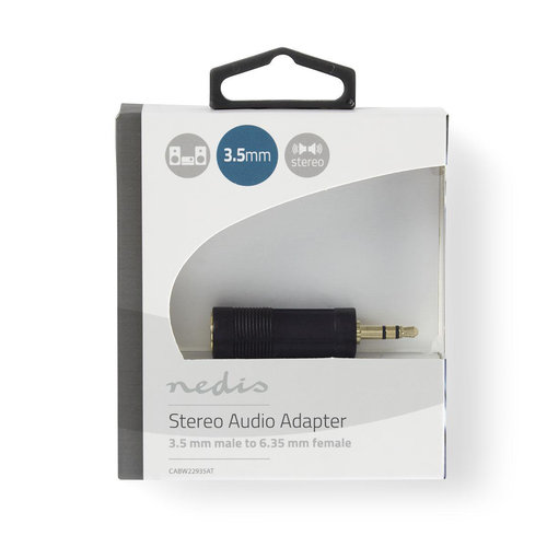 Stereo Audioadapter | 3,5 mm male - 6,35 mm female