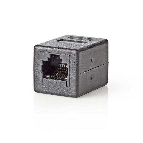 CAT6-Netwerkadapter | RJ45 (8P8C) female - RJ45 (8P8C) female | zwart