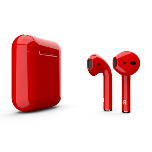 EarPods 2 met draadloze oplaadcase 1:1 - Rood