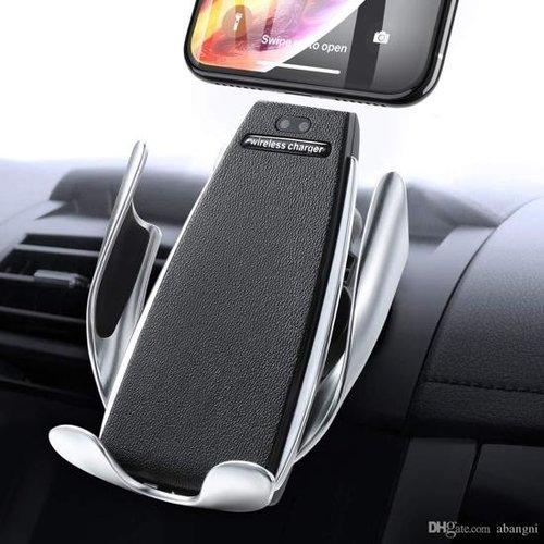 Draadloze automobiel houder en snellader - Zilver