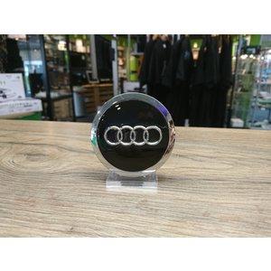Audi Naafdoppen set van 4 stuks zwart met chroom - 69mm