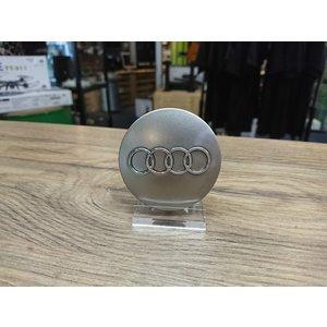 Audi Naafdoppen set van 4 stuks grijs - 60mm