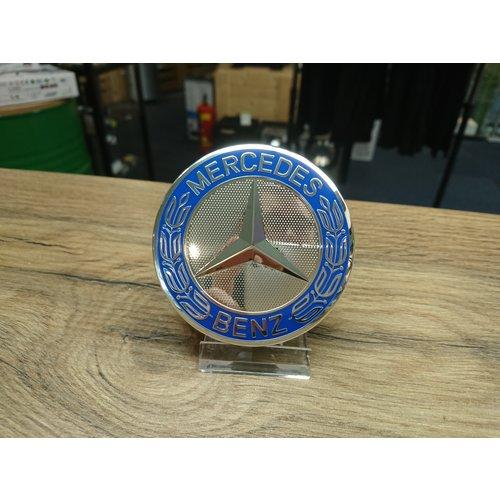 Mercedes Naafdoppen set van 4 stuks blauw - 75mm
