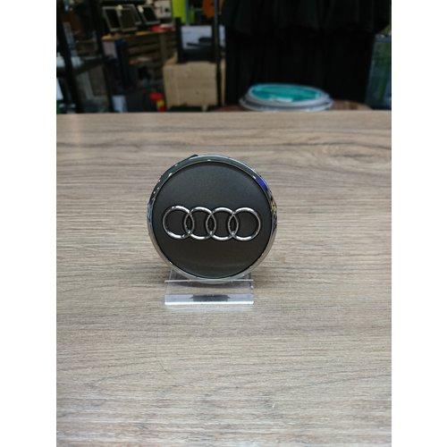 Audi Naafdoppen set van 4 stuks grijs met chroom - 61mm