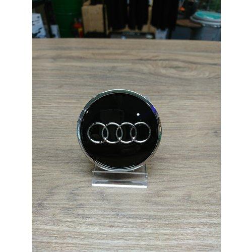 Audi Naafdoppen set van 4 stuks zwart met chroom - 61mm