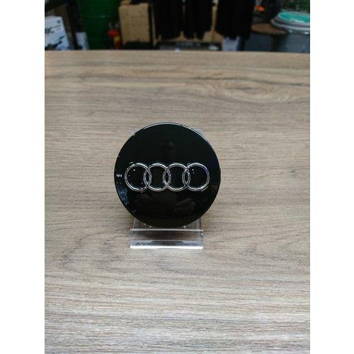 Audi Naafdoppen set van 4 stuks zwart - 60mm