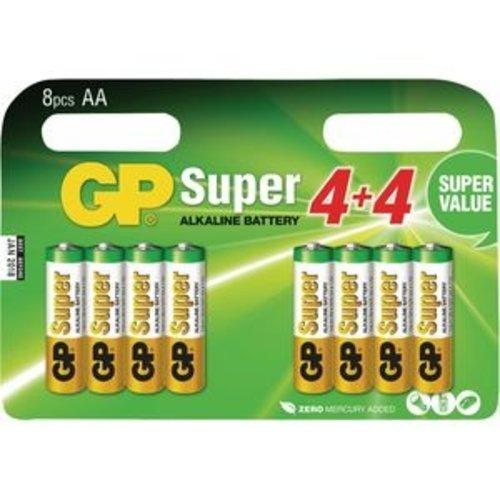 GP super 8-multipack AA super alkaline LR06 15A