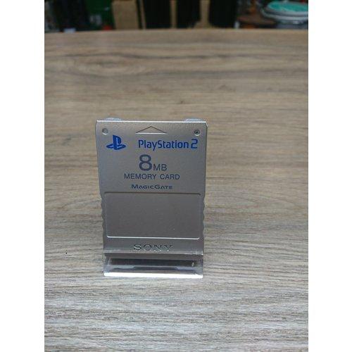 Playstation 2 memory card 8MB - zilver
