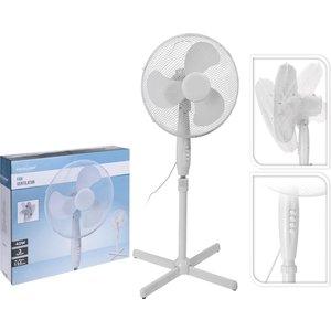 Statiefventilator 40cm draaiend 45W - Wit