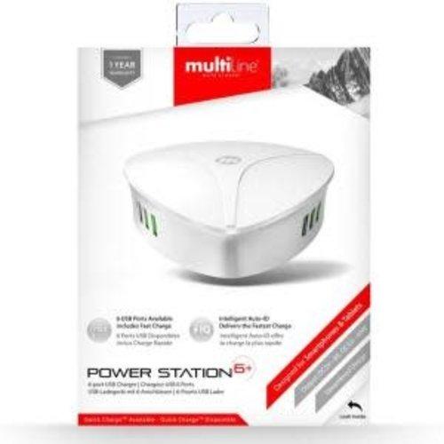 Multiline Multiline Powerstation 6+ – 8A / 40W – 6-port USB Hub