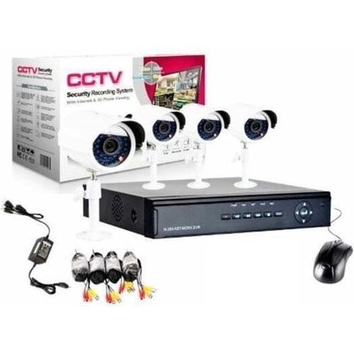 CCTV camerasysteem 4 Camera's + DVR voor internet en telefoon - Wit