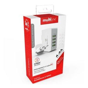 Multiline Multliine homecharger 4 poorts 4.4Ah