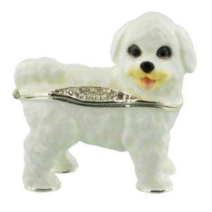 The Juliana Collection, Bichon Frise Puppy Trinket Box