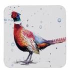 Sarah Stokes Art Pheasant Coaster (Set 4)