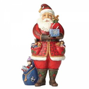 Jim Shore's Heartwood Creek Santa holding presents (As You Wish)y