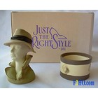 Just the Right Shoe Fedora   (Hat Bust)