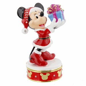 Disney Christmas Minnie Mouse Trinket Box - Figurine