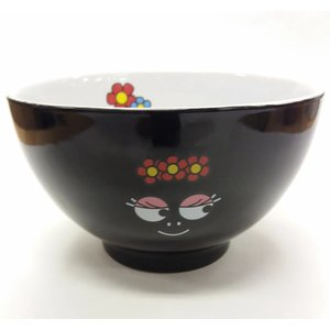 Barbapapa Bowl Barbamama Fleurs (Glossy Black)